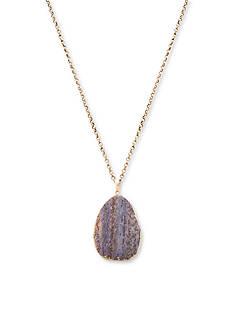 Steve Madden Natural Stone Pendant Necklace
