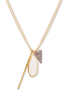Steve Madden Stone Cluster Charm Necklace