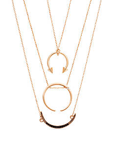 Steve Madden Delicate Crescent Necklace Set