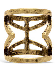 Steve Madden Tribal Cutout Ring