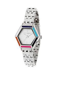 Steve Madden Women's Hexagon Dial Mod Chain-Link Watch
