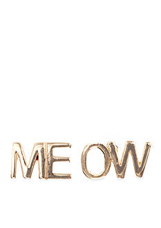 Jules B Meow Statement Button Earrings