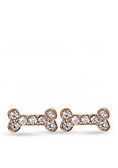 PET FRIENDS Crystal Bone Treat Stud Earrings