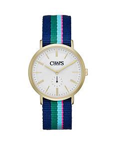 Chaps Men's Dunham Striped Canvas Strap Watch