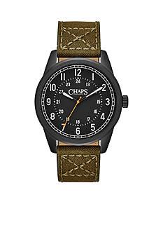 Chaps Men's Bransen Olive Canvas Strap Watch