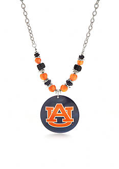 accessory PLAYS Silver-Tone Auburn Tigers Shell Pendant Necklace