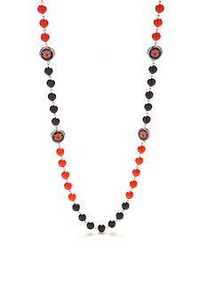 accessory PLAYS Silver-Tone Auburn Tigers Strand Necklace