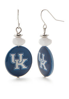 accessory PLAYS Silver-Tone Kentucky Wildcats Drop Earrings