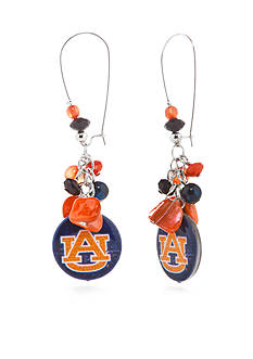 accessory PLAYS Silver-Tone Auburn Tigers Long Cluster Drop Earrings