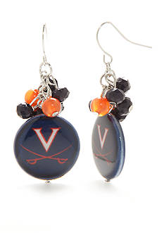 accessory PLAYS Silver-Tone Virginia Cavaliers Cluster Drop Earrings