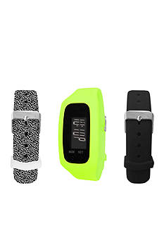 B FIT WATCH Lime Green LCD Tracker Watch