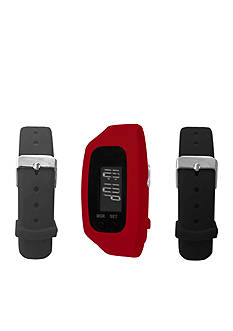B FIT WATCH Red LCD Tracker Watch