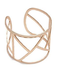 true Gold-Tone Geometric Cuff Bracelet