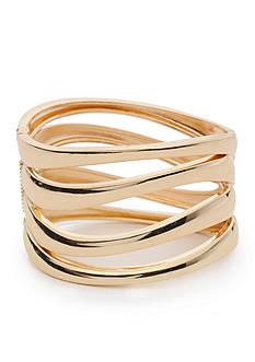 true Gold-Tone Hinge Bracelet