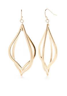 true Gold-Tone Large Orbital Teardrop Earrings