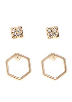 true Geometric Duo Stud Earring Set