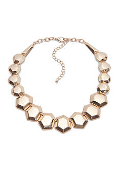 true Gold-Tone Geo Statement Necklace