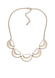 true Two-Tone Crescent Collar Necklace
