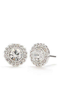 Vera Bradley Silver-Tone Pave Stud Earrings