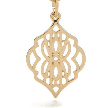 Fashion Pendant Necklace: Gold Vera Bradley Signature Pendant Necklace