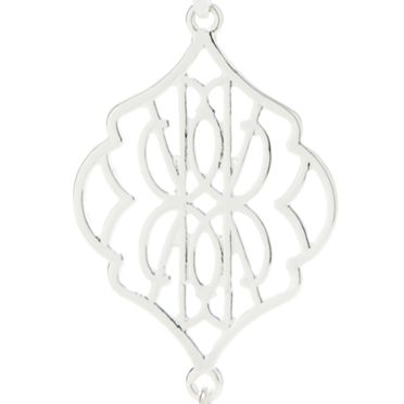 Fashion Pendant Necklace: Silver Vera Bradley Signature Long Tassel Pendant Necklace