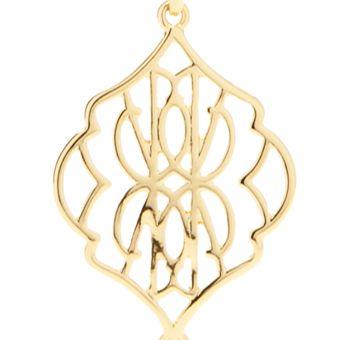 Fashion Pendant Necklace: Gold Vera Bradley Signature Long Tassel Pendant Necklace