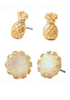 spartina 449 18K Gold-Plated Pineapple Stud Earrings Set