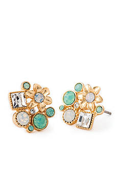 spartina 449 18K Gold-Plated Flora Fizz Stud Earrings