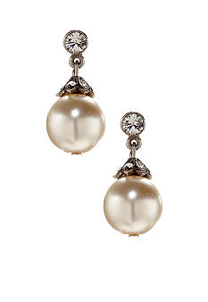 Ben-Amun Simple Pearl Drop Earrings
