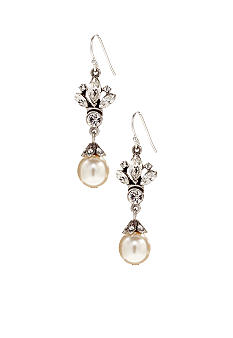 Ben-Amun Crystal And Pearl Drop Earrings