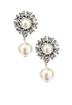 Ben-Amun Pearl And Crystal Earrings