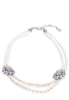 Ben-Amun Two Row Pearl Necklace<br>