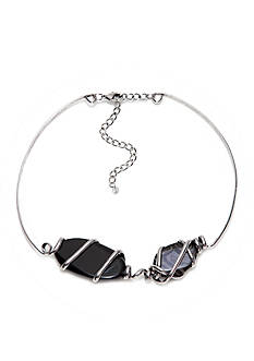 New Directions Genuine Stone Collar Necklace