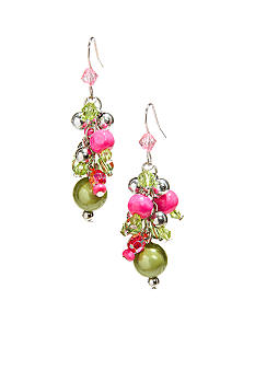 New Directions Strawberry Lime Cluster Earrings