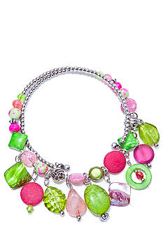New Directions Strawberry Lime Beaded Coil Necklace