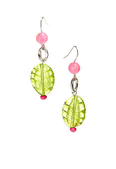 New Directions Strawberry Lime Glass Bead Earrings