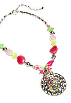 New Directions Strawberry Lime Pendant Necklace