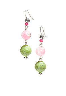 New Directions Strawberry Lime Linear Drop Earrings