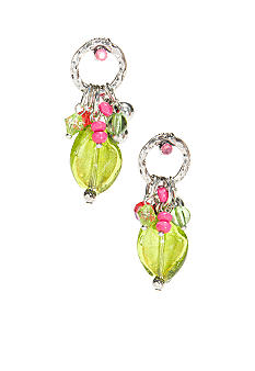 New Directions Strawberry Lime Ring Top Earrings