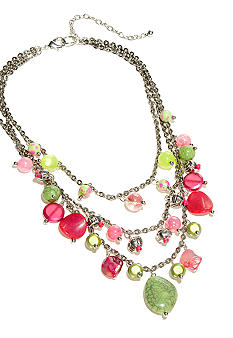 New Directions Strawberry Lime Statement Necklace
