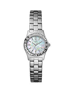 GUESS Women's Petite Sport Steel Bracelet Watch
