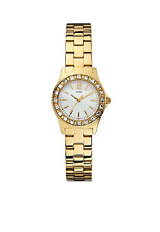GUESS Women's Petite Sport Gold Tone Watch
