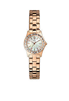 GUESS Women's Petite Rose Gold Tone Bracelet Watch