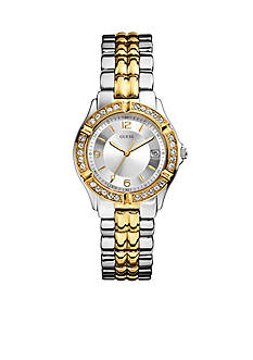 GUESS Women's Mid-Size Two Tone Steel Bracelet Watch