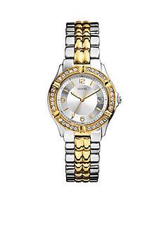 GUESS Women's Mid-Size Two Tone Steel Bracelet Watch