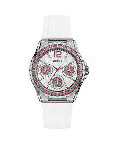 GUESS Sterling Silver Guess 2016 Sparkling Pink Watch