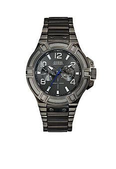 GUESS Men's Gunmetal Ionic Plated Steel Sport Chronograph