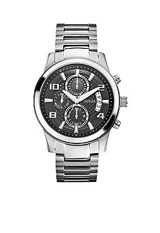 GUESS Men's Chronograph Silver Tone Steel Bracelet Watch
