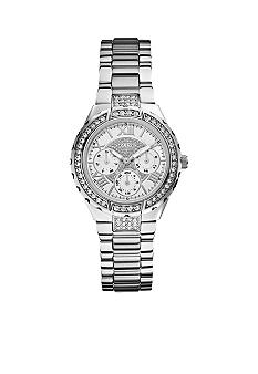 GUESS Women's Mid-Size Steel Bracelet Multi-Function Watch