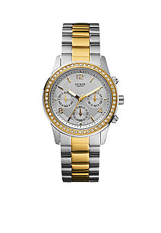 GUESS Women's Two Tone Contemporary Chronograph Watch